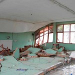 Partially collapsed SMK 9 Negeri High School.