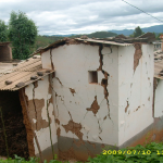 Damage of adobe buildings.