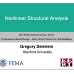 Performance Based Design: State of Practice for Tall Buildings – Structural Analysis and Modeling by G. Deierlein (Video Download)