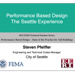 Performance Based Design: State of Practice for Tall Buildings – Local Jurisdiction Applications by S. Pfeiffer  (Video Download)