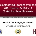 Learning from Recent Major Earthquakes: Lessons for Practice – Geotechnical Lessons (Video Download)