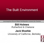 Learning from Recent Major Earthquakes: Lessons for Practice – The Built Environment (Video Download)