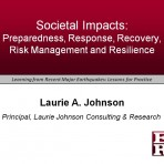 Learning from Recent Major Earthquakes: Lessons for Practice – Societal Impacts (Video Download)