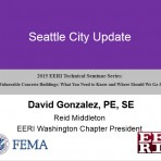 Update on Vulnerable Concrete Buildings: What You Need to Know and Where Should We Go from Here? – City Updates Seattle by D. Gonzalez (Video Download)