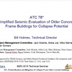 Update on Vulnerable Concrete Buildings: What You Need to Know and Where Should We Go from Here? – ATC 78 Project Update by W. Holmes (Video Download)