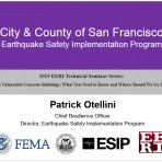 Update on Vulnerable Concrete Buildings: What You Need to Know and Where Should We Go from Here? – City Updates San Francisco by P. Otellini (Video Download)