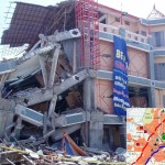 Pante Pirak Supermarket, a 3-story building - the collapse was due to poor quality of construction.