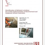 Identification of Methods to Achieve Successful Implementation of Nonstructural and Equipment Seismic Restraints