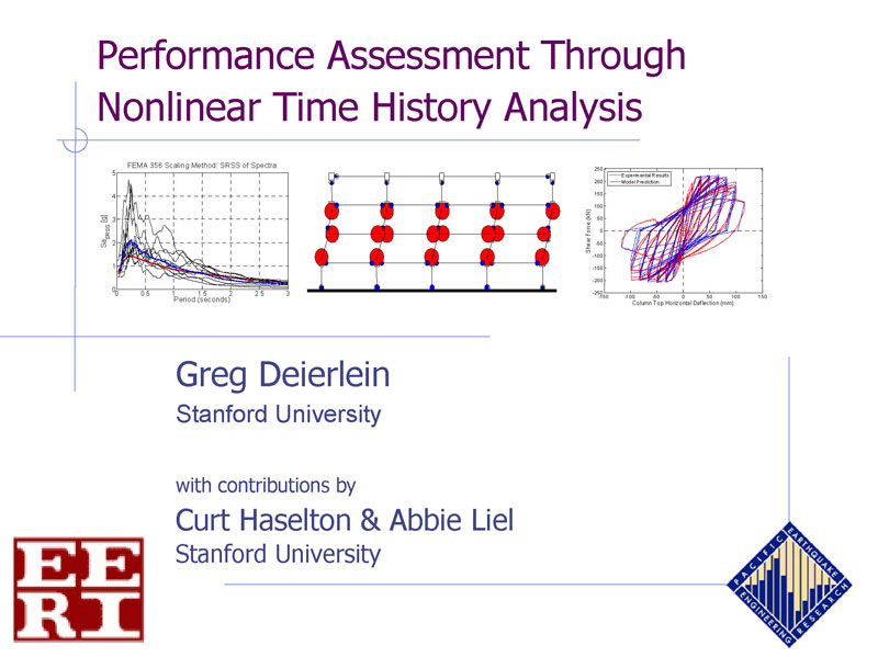 Performance Assessment Through Nonlinear Time History Analysis (VIDEO DOWNLOAD)