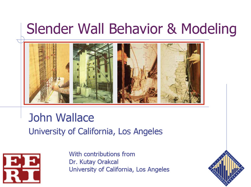 Component Behavior and Modeling-Walls (VIDEO DOWNLOAD)