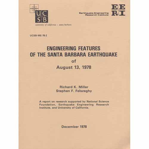 Engineering Features of the Santa Barbara Earthquake