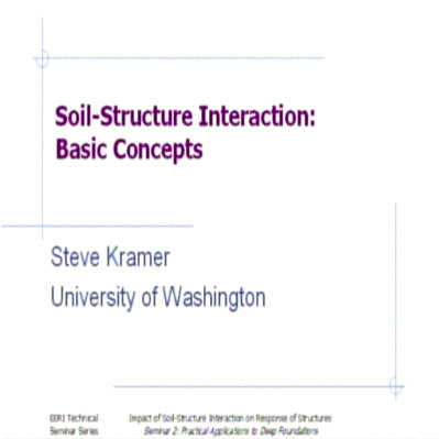Overview of Soil-Structure Interaction for Deep Foundations